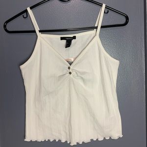 NEW Forever 21 ribbed button tank